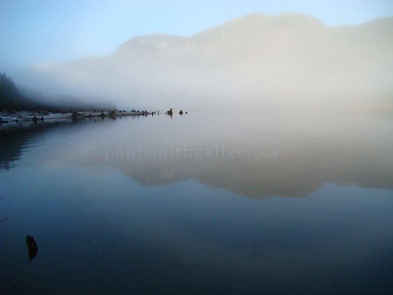 Foggy Big Den Beach on Vancouver Island