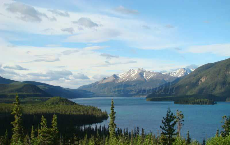 Little Salmon Lake in the Yukon