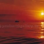 sun down on georgia strait near texada island