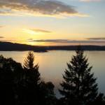 sun setting on the sunshine coast