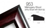 mahogany lacquered with black accent picture frame